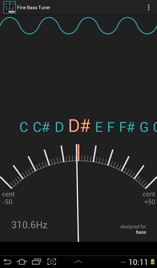 Fine Bass Tuner- screenshot