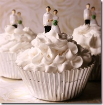 Bride And Groom Realistic Wedding Fake Cupcake Faux Cake by frostedfakes