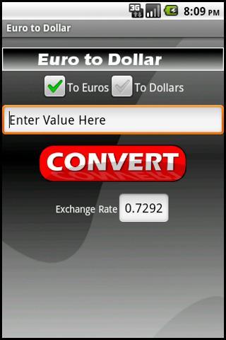 Euro to Dollar (Ad Free!)- screenshot