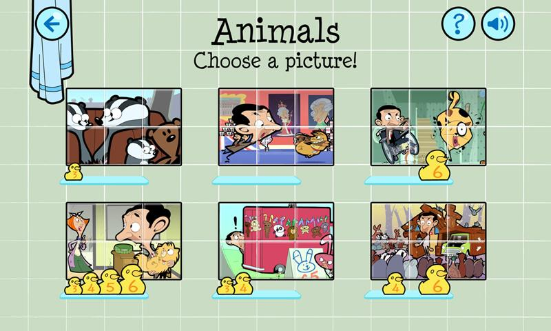 Mr Bean Slider Puzzle - screenshot