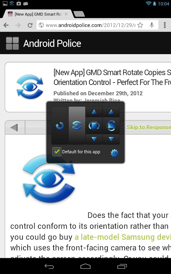 GMD Smart Rotate (key) - screenshot