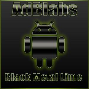 Next Launcher 3D Black Lime HD APK