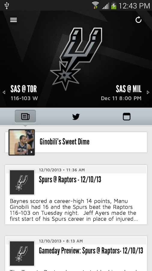 San Antonio Spurs- screenshot