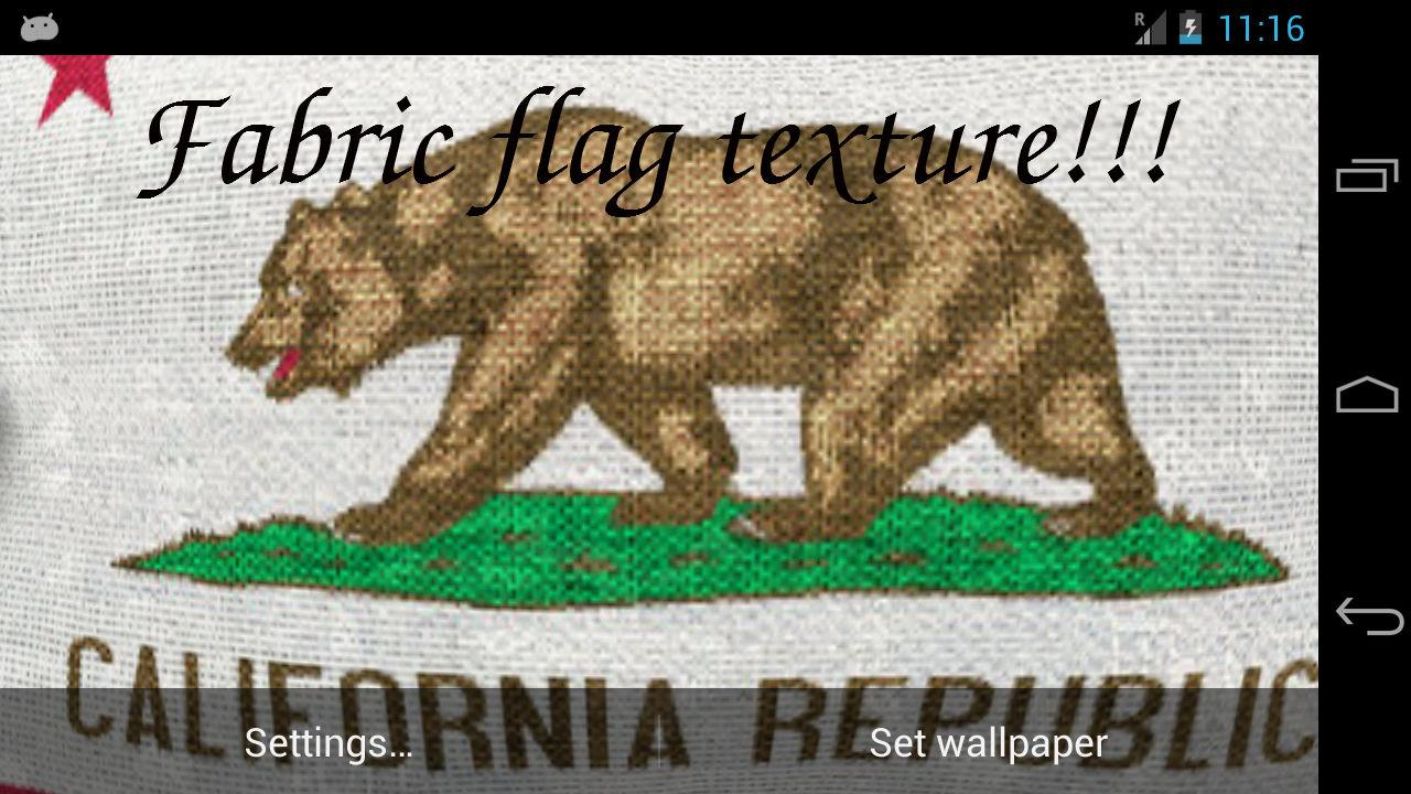 California Flag LWP + - screenshot