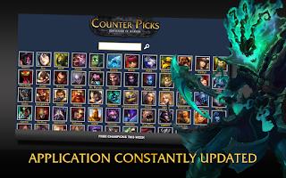 Screenshot of CounterPicks League of Legends
