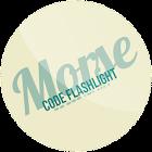 Morse code flashlight icon