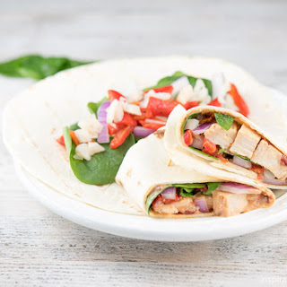 Healthy Spinach & Chipotle Chicken Wraps