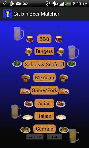 Grub N Beer Matcher