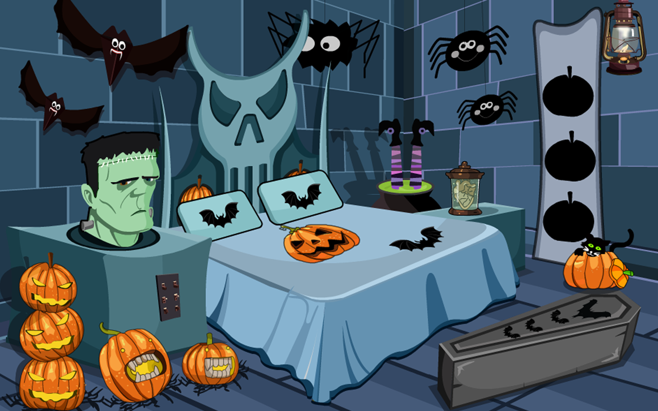 3d escape games halloween castle isithombe skrini