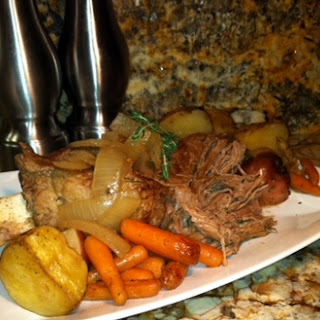 Ale Roast With Vegetables and Thyme