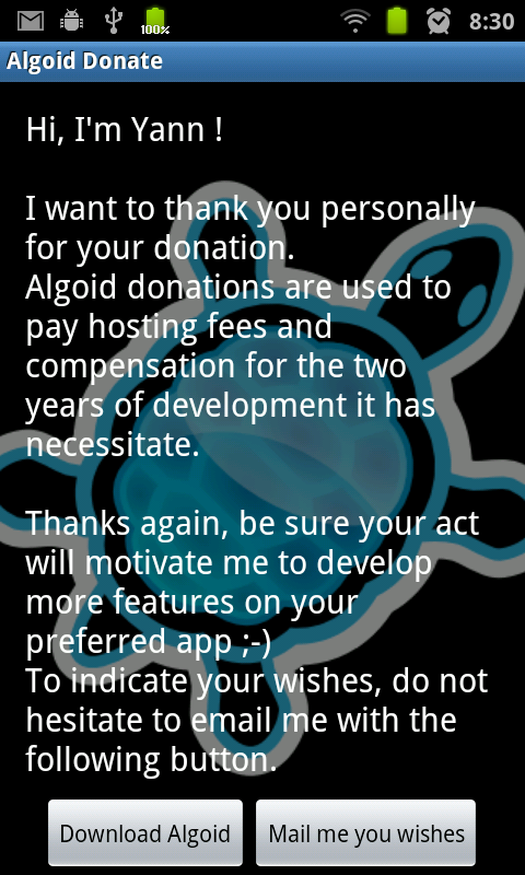Algoid - Donate- screenshot