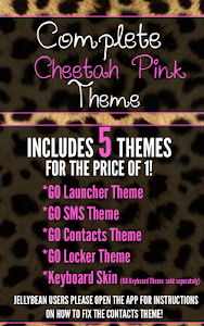 Complete Cheetah Pink Theme screenshot 0