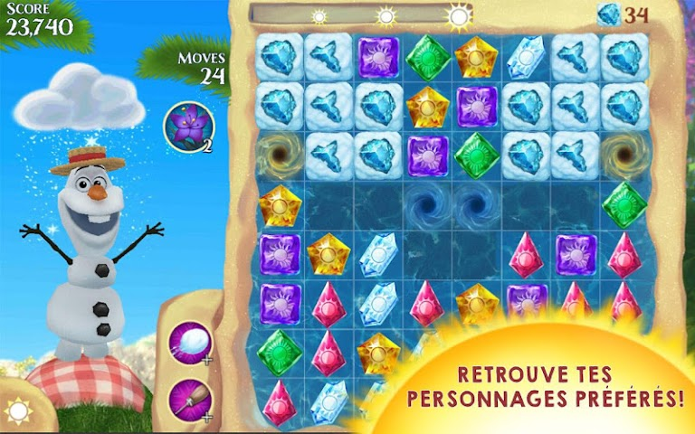 android La Reine des Neiges Free Fall Screenshot 9