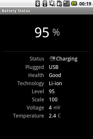 Simple Battery Logger- screenshot