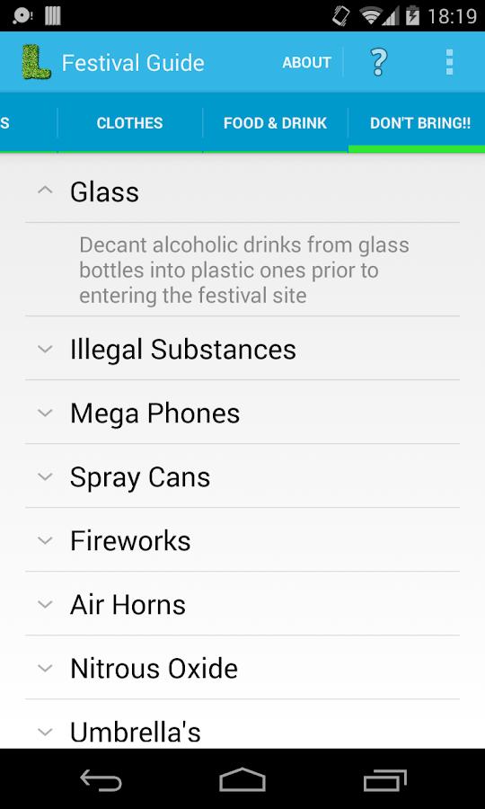 festival guide app