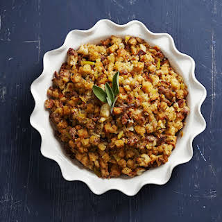 Apple, Sage, and Sausage Stuffing.