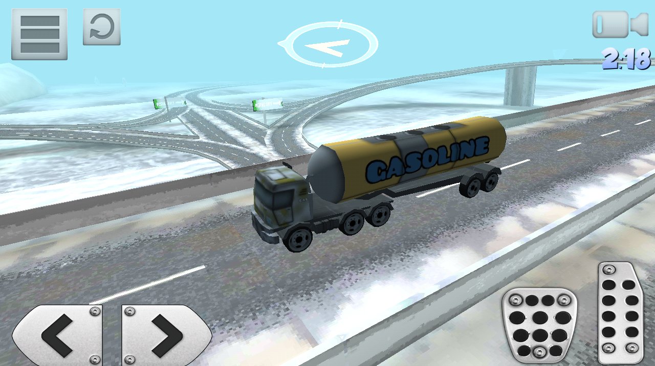 Christmas Snow Truck Driving- screenshot