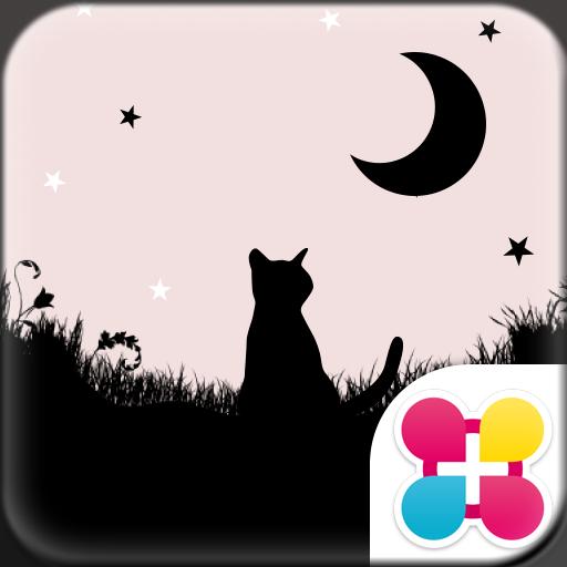 月夜與黑貓 for[+]HOME 個人化 App LOGO-APP試玩