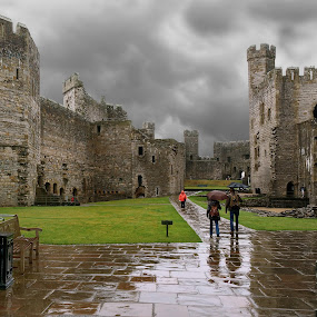 Stormy Day at Caernarfon Castle by Lanis Rossi - Instagram & Mobile Other