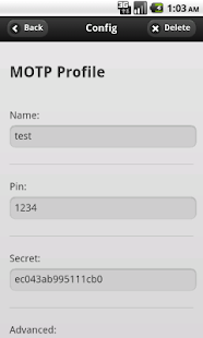 mOTP token- screenshot thumbnail