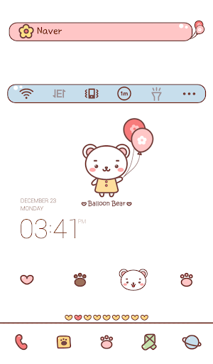 balloon bear dodol theme