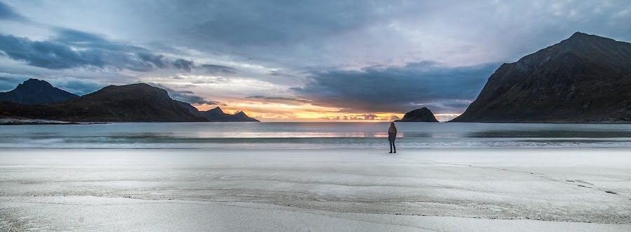 Haukland beach, Lofoten, Norway. by Mats Anda - Landscapes Beaches ( haukland, sea, beach, seascape, landscape, lofoten, norway )