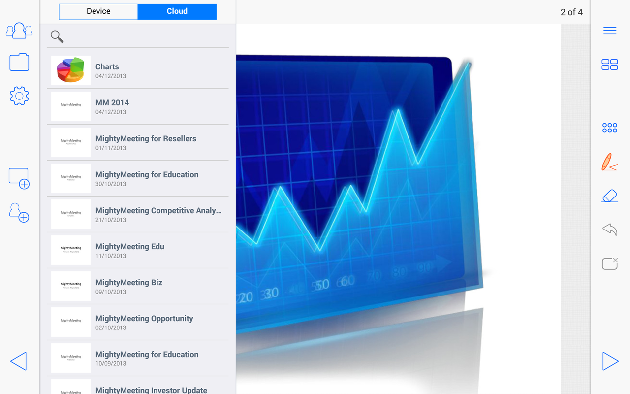 PPT and Whiteboard Sharing - screenshot