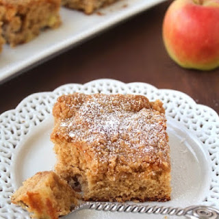 Apple Coffee Cake with Crumble Topping.
