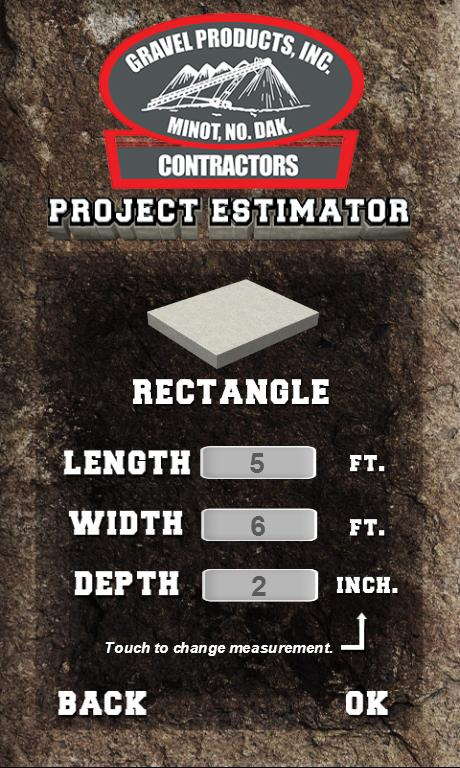 Gravel Products - Project Est. - screenshot