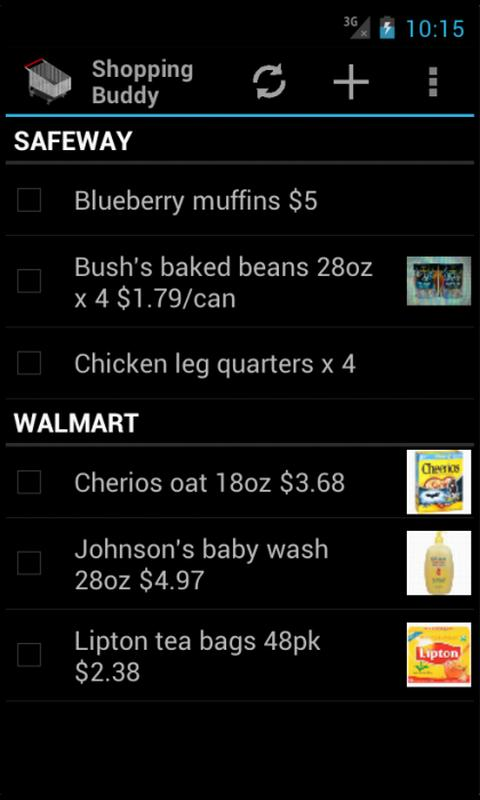 Shopping Buddy (Shared List) - screenshot