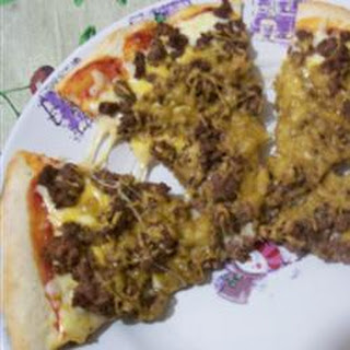 Basic Beef Pizza