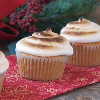 Sweet Potato Cupcakes w/ Toasted Marshmallow Frosting