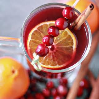 Crock Pot Cranberry-Orange Mulled Wine.