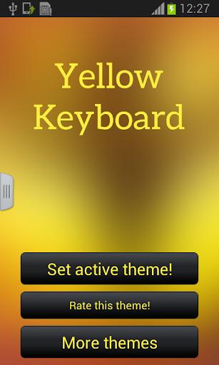 黄色のキーボードのテーマ