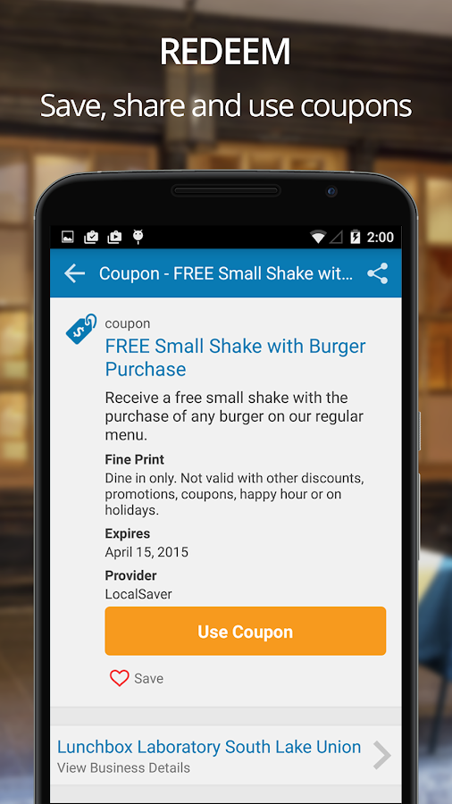 LocalSaver Local Coupons - screenshot