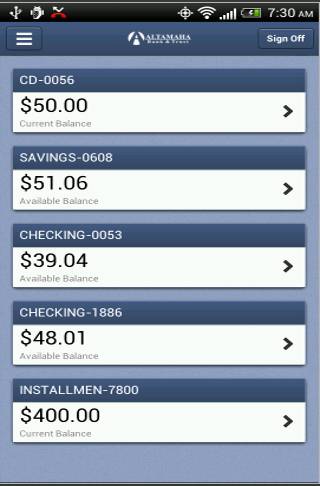 Altamaha Bank Mobile - screenshot