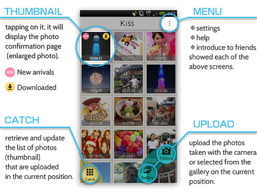 玩免費攝影APP|下載Kiss〜附近的朋友之間非常簡單地分享照片 app不用錢|硬是要APP