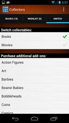 Collectors: Movies, Books, Music, Games, Comics - screenshot