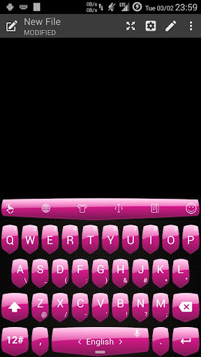 Theme TouchPal Shield - Pink