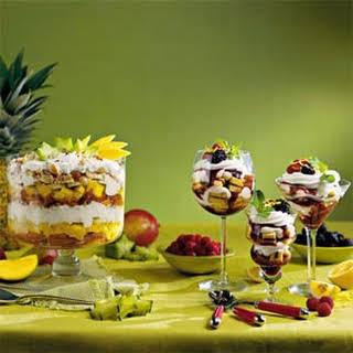 Tropical Rum Trifle.