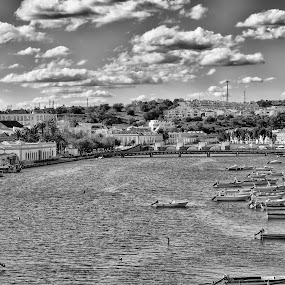 Tavira beautiful by Miguel Pires - City,  Street & Park  Street Scenes ( tavira beautiful portugal river, relax, tranquil, relaxing, tranquility )