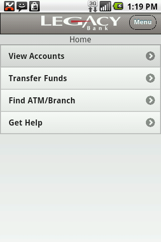 Legacy Bank Mobile - screenshot
