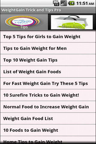 Weight Gain Tricks - screenshot