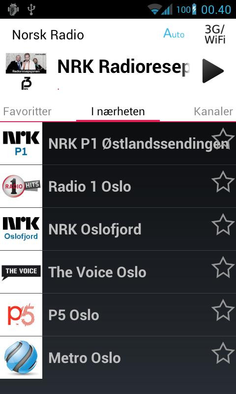 Norsk Radio Pluss - screenshot