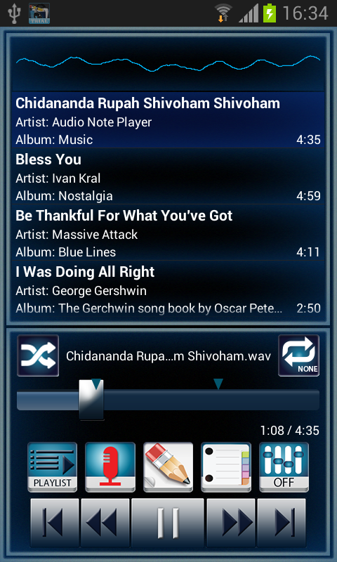 Audio Note Player- screenshot