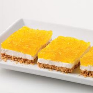 Creamy Marshmallow and Pineapple Squares.