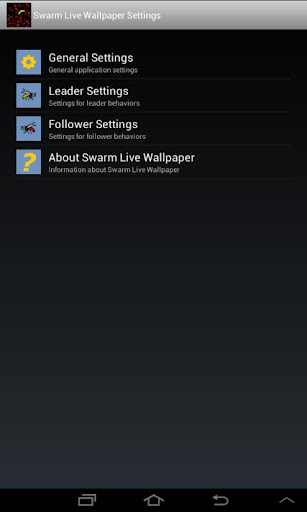 Swarmer Live Wallpaper