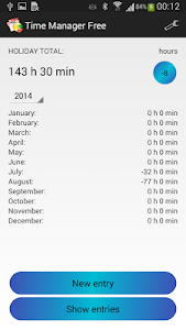 Time Manager Free screenshot 1