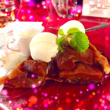 Tarte Tatin Papaye accompagnee d'Ice-cream Vanille
