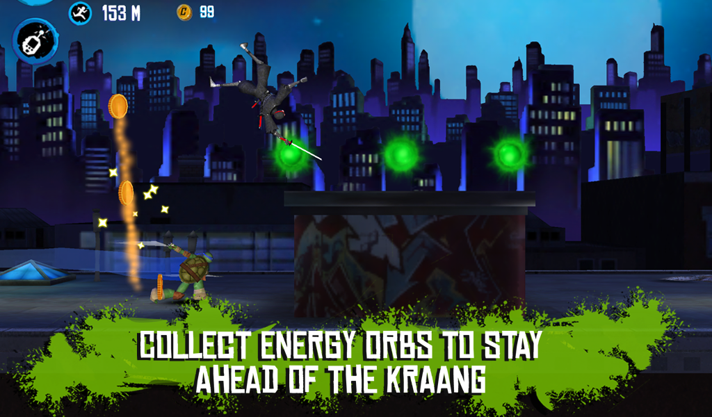 TMNT: ROOFTOP RUN- screenshot